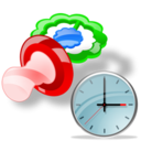 Clock, Pacifier icon