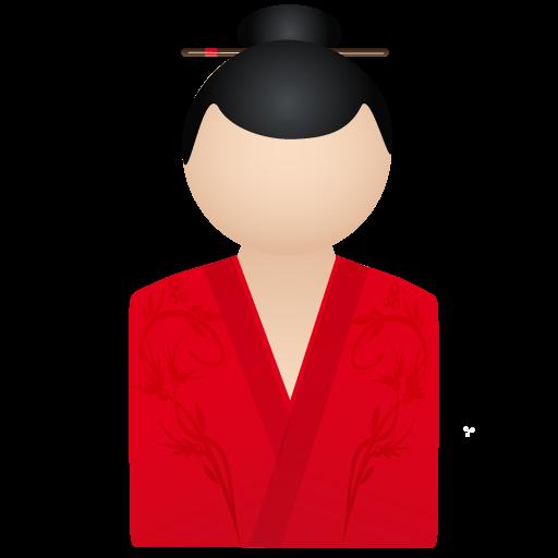 member, person, account, kimono, red, woman, user, human, profile, people, female icon