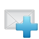 add, letter, email, plus, envelop, mail, message icon