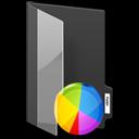 graph, chart, folder icon