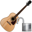 guitar,unlock,instrument icon