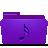 violet, music, folder icon