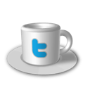 cup, coffee, twitter icon