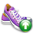 shoes up, shoes, ascend, ascending, rise, up, increase, upload icon