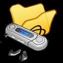 Folder, Mymusic, Yellow icon
