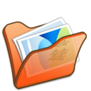 Folder orange mypictures icon