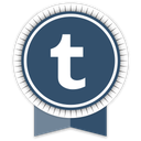 social, tumblr, ribbon icon