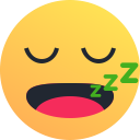 snooze, emot, emoji, sleepy, reaction icon