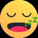 snooze, emot, emoji, sleepy, reaction icon
