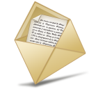 email, oficina, letter, mail, message, abierto, envelop icon