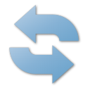 blue, refresh, reload icon