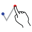 shape, tick, right, stroke, gestureworks icon