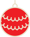 christmas, decoration, xmas, ball icon