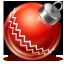 red, ball, christmas icon