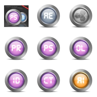 Creative Suite 4 icon sets preview