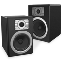 speakers, twin, experience icon