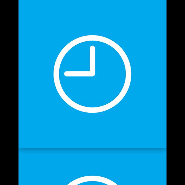 mirror, clock icon