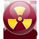 burn, radio active, nuclear icon
