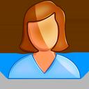 user, female icon