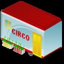 circus, trailer icon