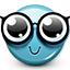 smiley, emot, nerd, glasses, geek, smiley face icon