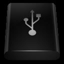 Black Drive USB icon