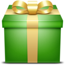 green,gift,box icon