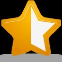 rating, star, half icon