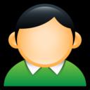 user,coat,green icon