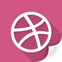 circle, network, connection, dribbble, flag, social, sports icon