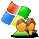 windows, users icon