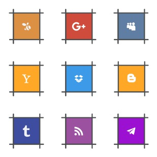 Social pack icon sets preview