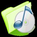 folder green music icon