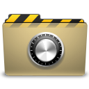 manilla, locked, folder, lock, security icon