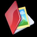 Folder, Image, Red icon