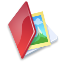 folder, red, pic, image, picture, photo icon