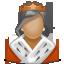 queen, royal, woman, user icon