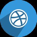 dribbble, social, network, , media icon