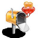 Box, Hearts, Mail icon