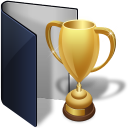folder blue award icon