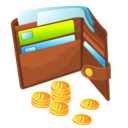 purse,coin icon
