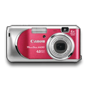 powershot, rouge icon