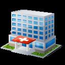 clinic, hospital, building, health, emergency room, medical icon