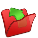 folder,red,parent icon