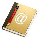 contacts, address, book icon