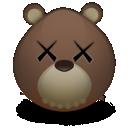kaws, bear icon