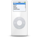 white, ipod, nano icon