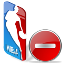 sport, del, basketball, delete, nba, favorite, remove icon