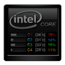 Black, Core, Temp icon