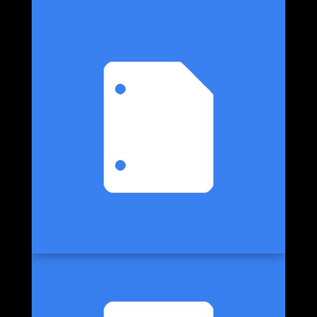 google, doc, mirror icon